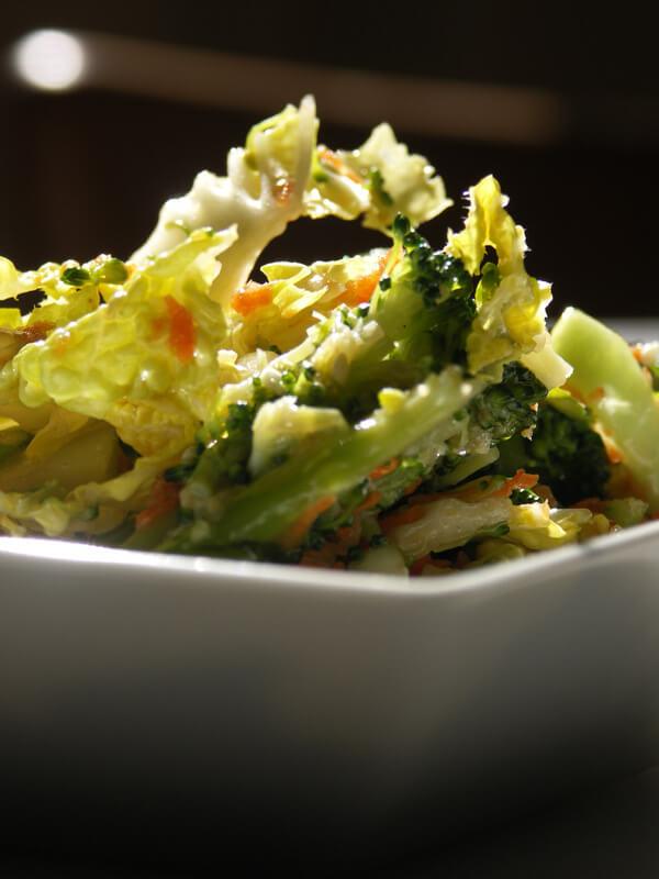 salade de chou, vinaigrette asiatique