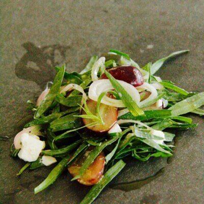 salade estragon chèvre raisin