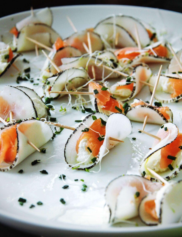 Petits bateaux de radis noir marine ricotta et saumon for Pinterest cuisine noel
