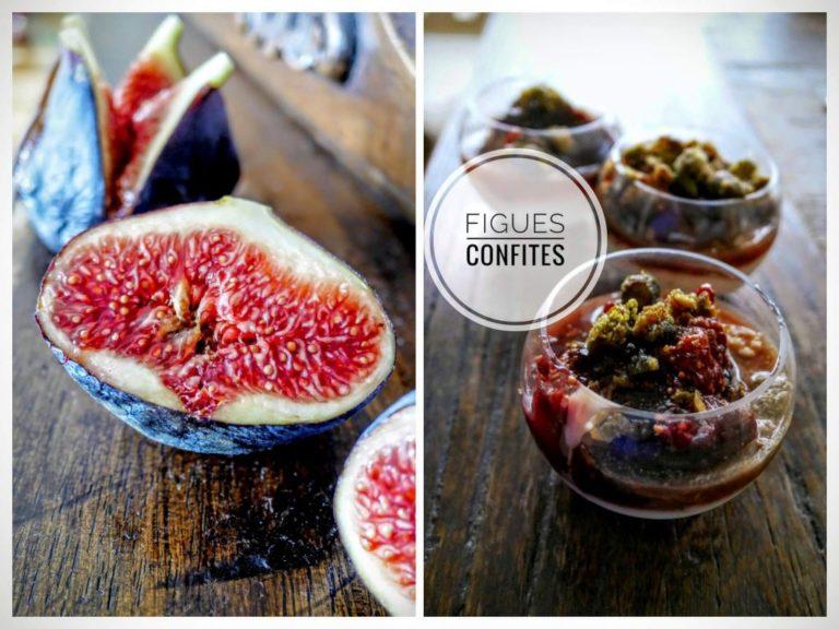 Automne, dessert de saison : petits pots de figues confites à la Yotam Ottolenghi, sur un lit de fromage blanc à l'orange.