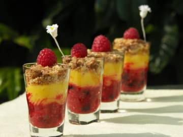verrine fruits rouges au Lemon cure