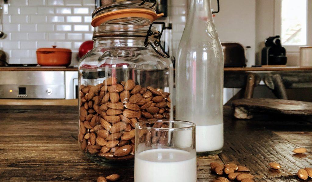 verre de lait d'amande
