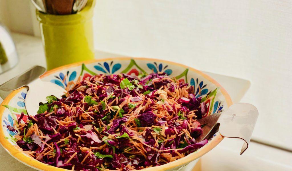 salade de chou rouge et carotte